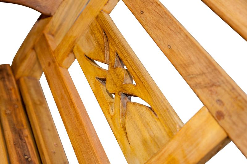 Banco Bali 2 lugares de madeira 1 - 544
