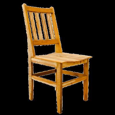 Cadeira de Madeira Modelo Ripada Acabamento Branco 2 – CAD018