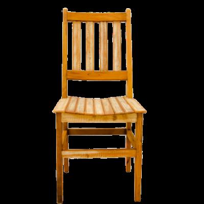 Cadeira de Madeira Modelo Ripada Acabamento Branco - CAD018