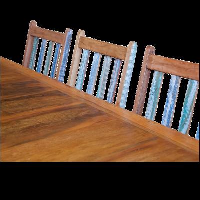Cadeira de Madeira Modelo Ripada Acabamento Colorido 5 – CAD019