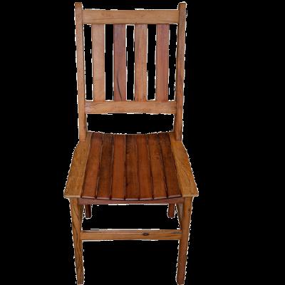 Cadeira de Madeira Modelo Ripada Acabamneto Rústico 2 - CAD017