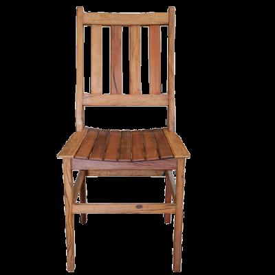 Cadeira de Madeira Modelo Ripada Acabamneto Rústico - CAD017