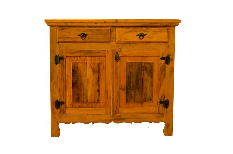 Arcaz de Madeira 2 Gavetas Rústico - ARC09