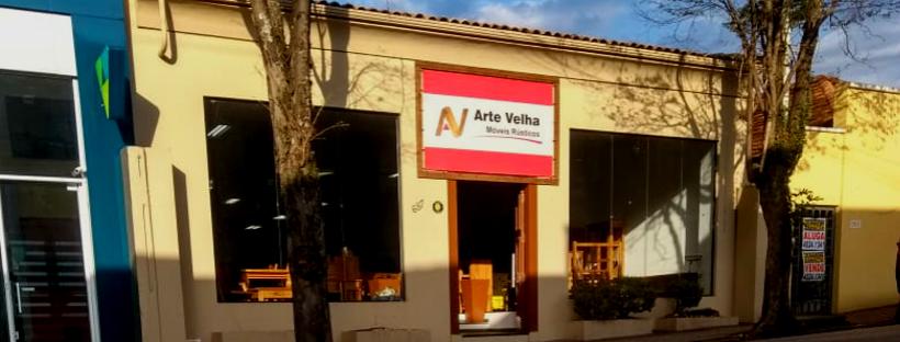 fachada da loja arte velha em itatiba