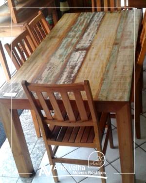 mesa de madeira de demolição mesa taubaté mesa de madeira taubaté móveis de madeira taubaté