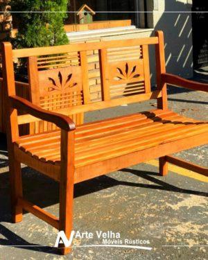 banco de madeira no outlet de móveis rústicos atibaia da arte velha móveis rústicos