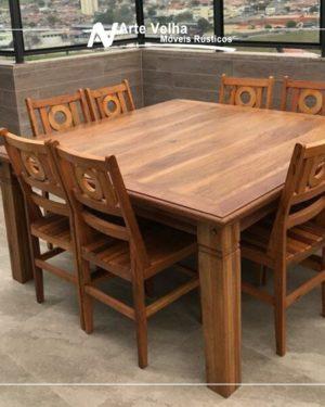 mesa quadrada de madeira de demolição outlet de móveis rústicos atibaia da arte velha móveis rústicos